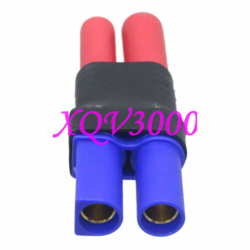 Direct connect EC5 Female to HXT 4MM Bullet Male Adapter For RC Turnigy Zippy