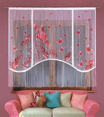 "Contemplativo Bambini Dipinti A Mano Kids Net Curtain-elf Per Qualsiasi Stanza Bambina 87"" X 71""-"