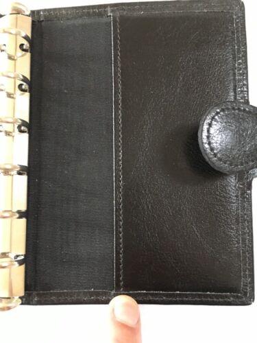 Organizer Pocket organizer new Filofax Size black London Leather Co FHEYvx