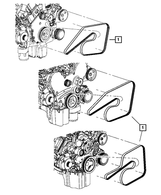 Serpentine Belt fits 2007 Dodge Ram 1500 V8 5.7L Gas Naturally Aspirated 2