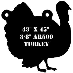 AR500 de acero de 43  X 45  X 3 8  práctica de destino de caza de Turquía Turquía glotón Macho