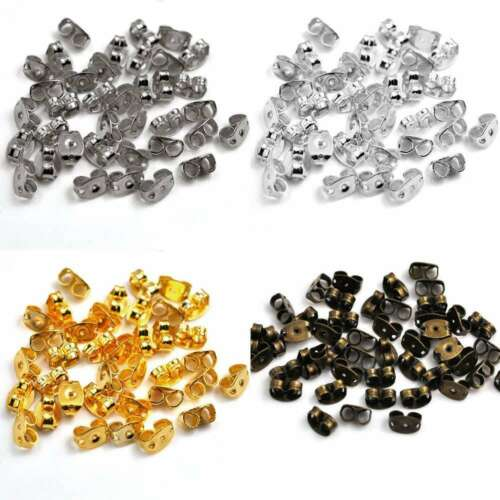 10g 100pcs Iron Butterfly Stopper Earring Findings Crafts 6x4x3mm Wholesale