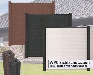 Bevorzugt WPC / BPC Sichtschutz mit Pfosten Sichtschutzzaun Gartenzaun Zaun FP24