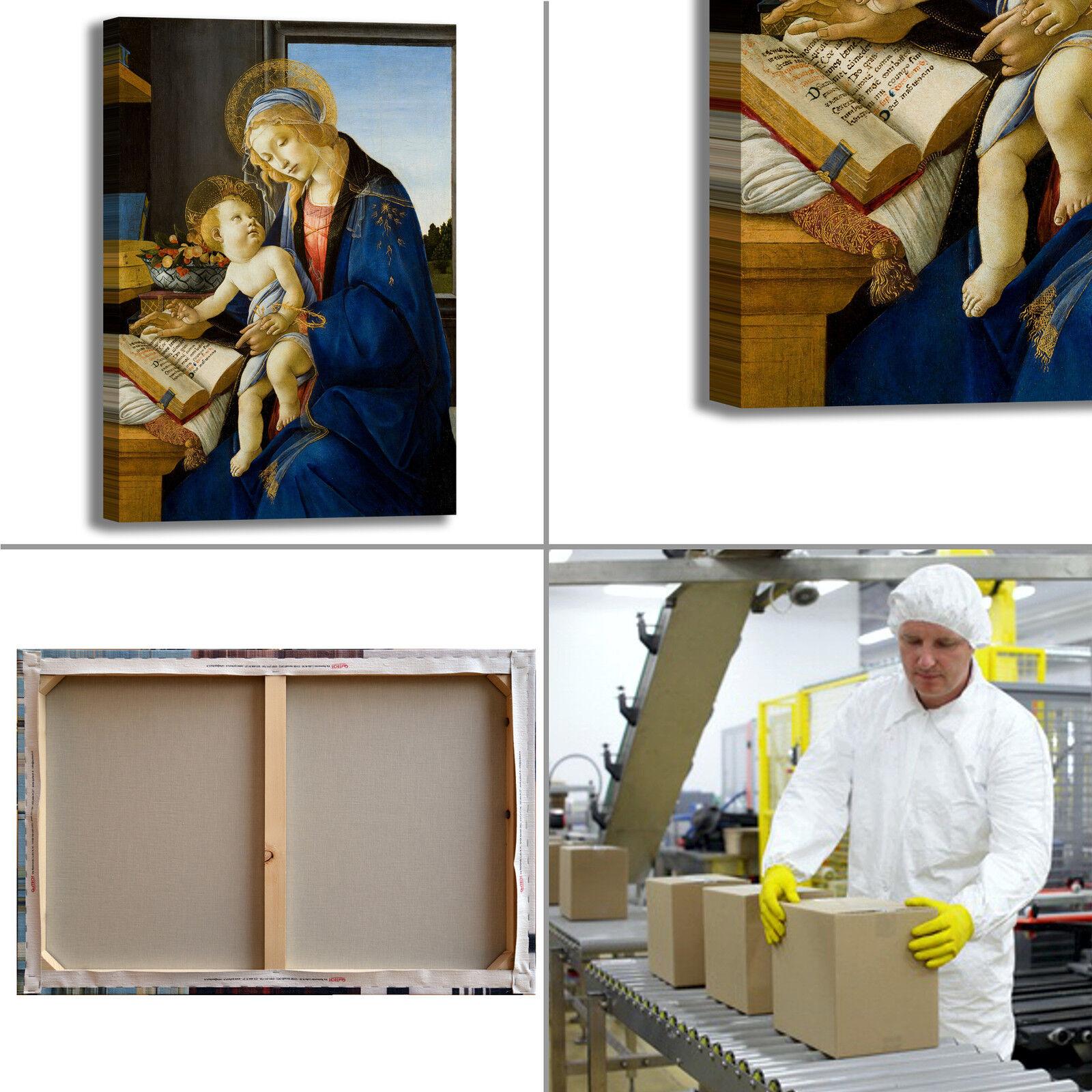Botticelli vergine e bambino quadro stampa tela dipinto dipinto dipinto telaio arrossoo casa f0b40a