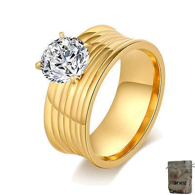Besorgt Original Enez Ring Trauring Ehering Edelstahlring Gr: 10 (20mm) B: 8mm R2626 + G Und Verdauung Hilft