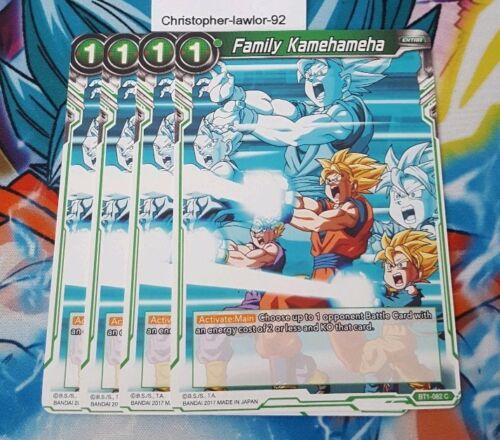 Family Kamehameha x4 BT1-082 Dragonball Super Card Game