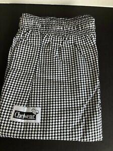 CHEF WEAR 3150 WOMEN/'S LO RISE PANT LG BLK//WHITE CHECKS COOK RESTAURANT SIZE 5X