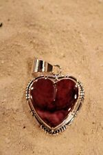 Purple Spiny Oyster Heart Pendant/Charm in Sterling Silver by RCC