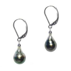 9-10MM-Tahitian-Black-Pearl-925-Silver-Lever-Back-Earrings