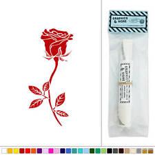 Rose Long Stemmed Flower Vinyl Sticker Decal Wall Art Décor