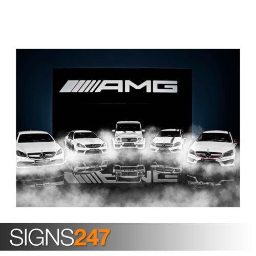 Car Poster MERCEDES BENZ AMG FASHION WEEK Poster Print Art A1 A2 A3 A4 0017