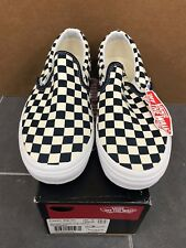 3917fee9b157f3 item 1 VANS CLASSIC SLIP ON GOLDEN COAST SIZE 10.5 NEW WITH BOX CHECKERED  WHITE BLUE -VANS CLASSIC SLIP ON GOLDEN COAST SIZE 10.5 NEW WITH BOX  CHECKERED ...