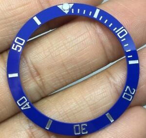 PLAT-SILVER-NUMBERS-CERAMIC-BLUE-SMURF-BEZEL-INLAY-FOR-SUBMARINER-116610-116619