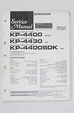 pioneer kp pioneer kp 4400 4430 4400 sdk original service manual guide wiring