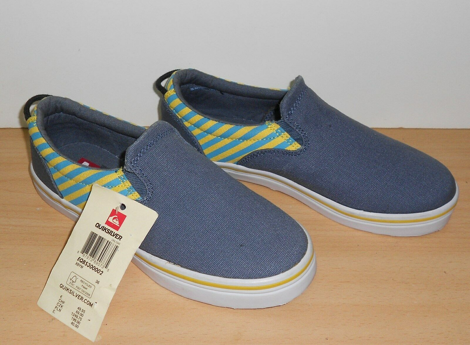 VANS Classic Slip On bluee Navy UNISEX Trainers shoes - NEW Boys Size 3
