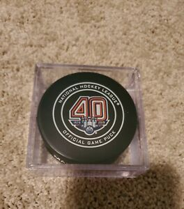 new york abb74 f50a7 Details about Edmonton Oilers 40th Anniversary Official Game Puck