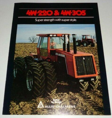 *Allis Chalmers 4W-220 4W-305 Tractor Sales Brochure Dealers Literature AC