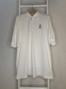 Men-s-XL-TPC-Louisiana-Adidas-Climacool-Golf-Polo-Shirt-White-Short-Sleeve-Top