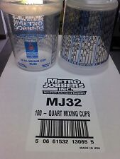 Paint Mixing Cups Quart With Graduations PPG Compare To EZMix 70032 100 in a Box