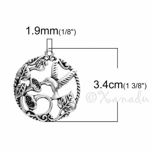 5 Or 10PCs Hummingbird Wholesale Antiqued Silver Plated Charm Pendant C2319-2