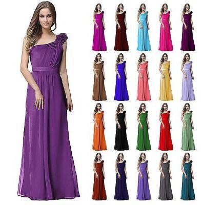 A-Line/Princess Full-Length Sleeveless Chiffon Bridesmaid Prom Dress size 6-22