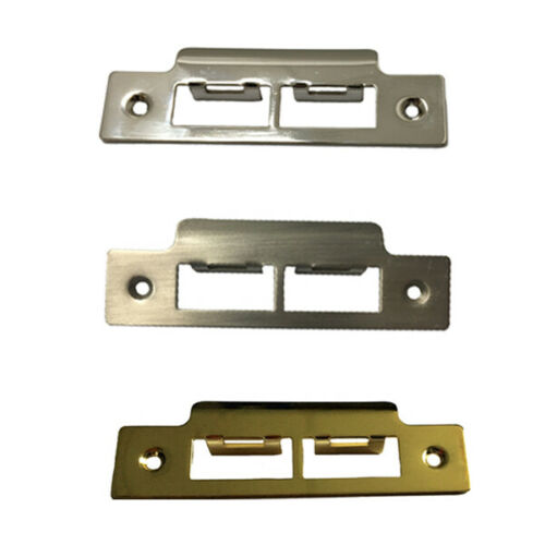Strike Plate Long Satin Brass Polished Chrome  for Tubular Mortice DOOR Latches