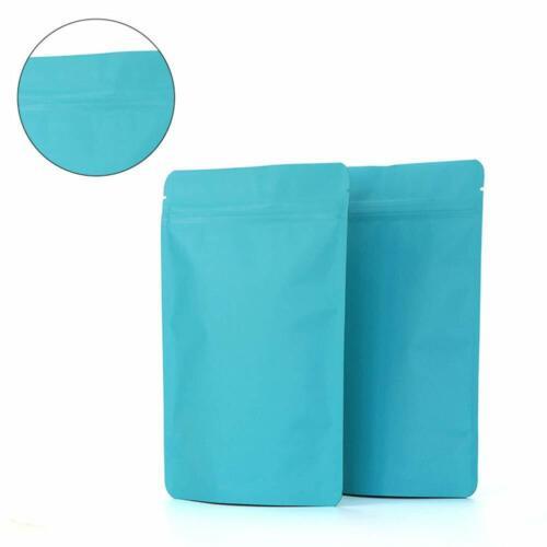 Colors Matte Pure Aluminum Foil Stand Up Zip Lock Bags Mylar Food Grade Pouches