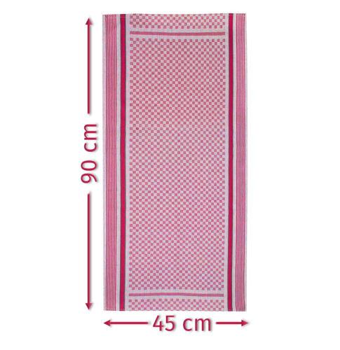 10 Grubentücher 45x90 cm rot Küchentücher Grubentuch Set 100/% Baumwolle
