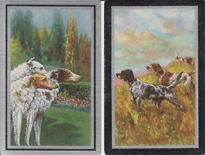 Vintage-Swap-Playing-Card-2-SINGLE-BEAUTIFUL-DOGS
