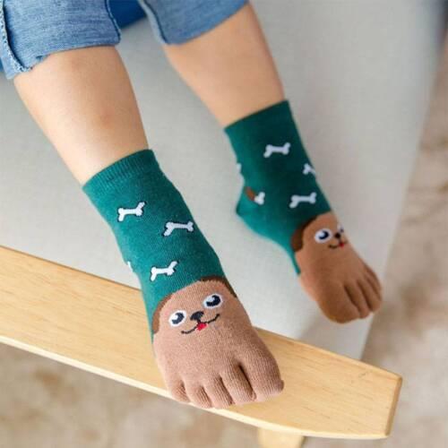 Children Cotton Animal Boys Girls Socks Toe Socks Kids Five Finger Socks