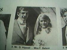 ephemera 1975 kent wedding picture d hipwell miss f batson otford
