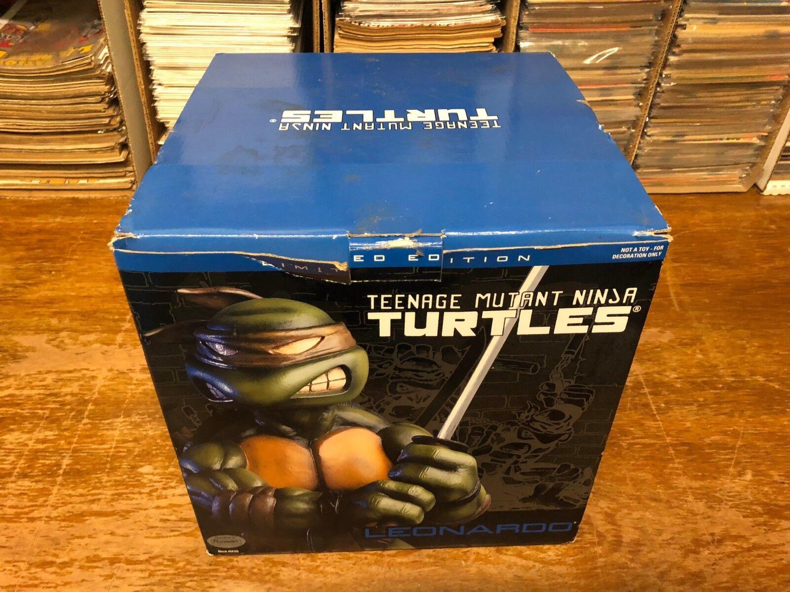 LEONARDO Teenage Mutant Ninja Turtles Statue Playmates 9  2003 W COA TB1