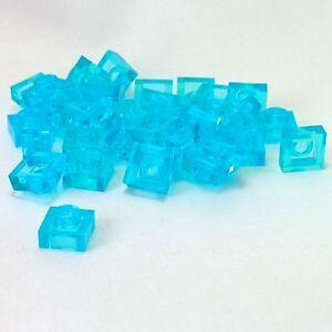 NEW LEGO PLATES 1 x 1 Light Aqua plate x 50-1x1