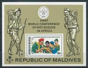 Asia Other Asian Stamps Popular Brand 282431 Malediven Block 18a** Pfadfinder