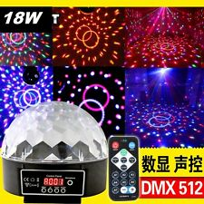 DMX512 Disco DJ Stage Party Light RGB Crystal Magic Ball Effect LED +Controller