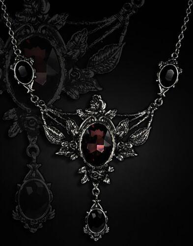 Restyle Halskette Dornröschen Gothic Collier Victorian Rose Vampire Necklace Rot