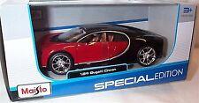 Bugatti Chiron Red and Black 1-24 Scale Maisto Model New in box