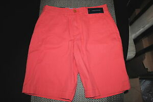 TOMMY HILFIGER MENS DESIGNER CLASSIC FIT FLAT FRONT CHINO SHORTS 32 33 & 40 NWT