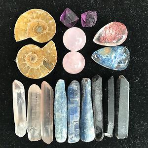 TOP-Combination-Of-Natural-Quartz-Crystal-Mineral-Rough-Specimens-60G-17pcs-AZ01