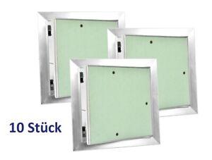 10 x GK Revisionsklappe Revisionstür 20x20 Aluminium Rahmen + Gipskarton EU Mark