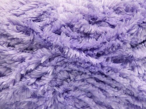 Lilac Panda Fuzzy Plush Yarn 100 Gram 87 Yards Ice 58824 Short Eyelash