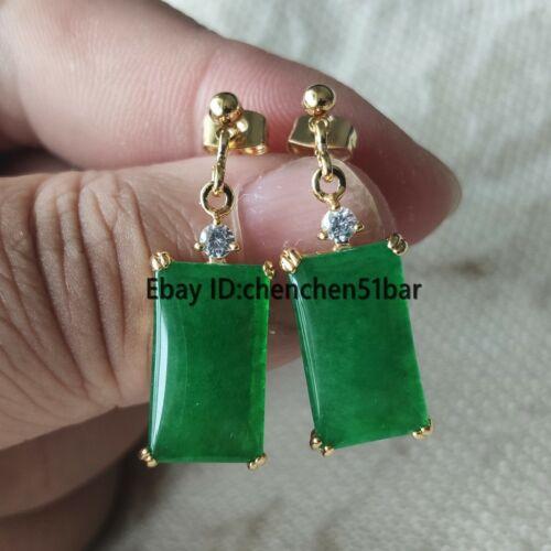 schöne 10-17mm grüne jade ohrringe