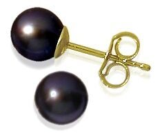 6mm-Yellow-Gold-Black-Cultured-Pearl-Earrings