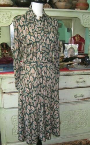 Vintage Diane Von Furstenberg Dress 1970's  Green