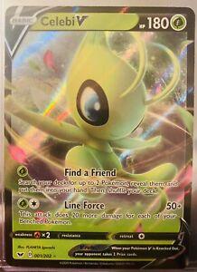 Pokemon TCG Sword and Shield 001//202 Celebi V Holographic Rare Card