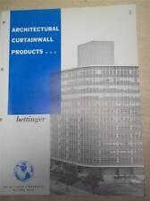 Bettinger Corp Catalog~Curtain Wall Panels~Asbestos~1962