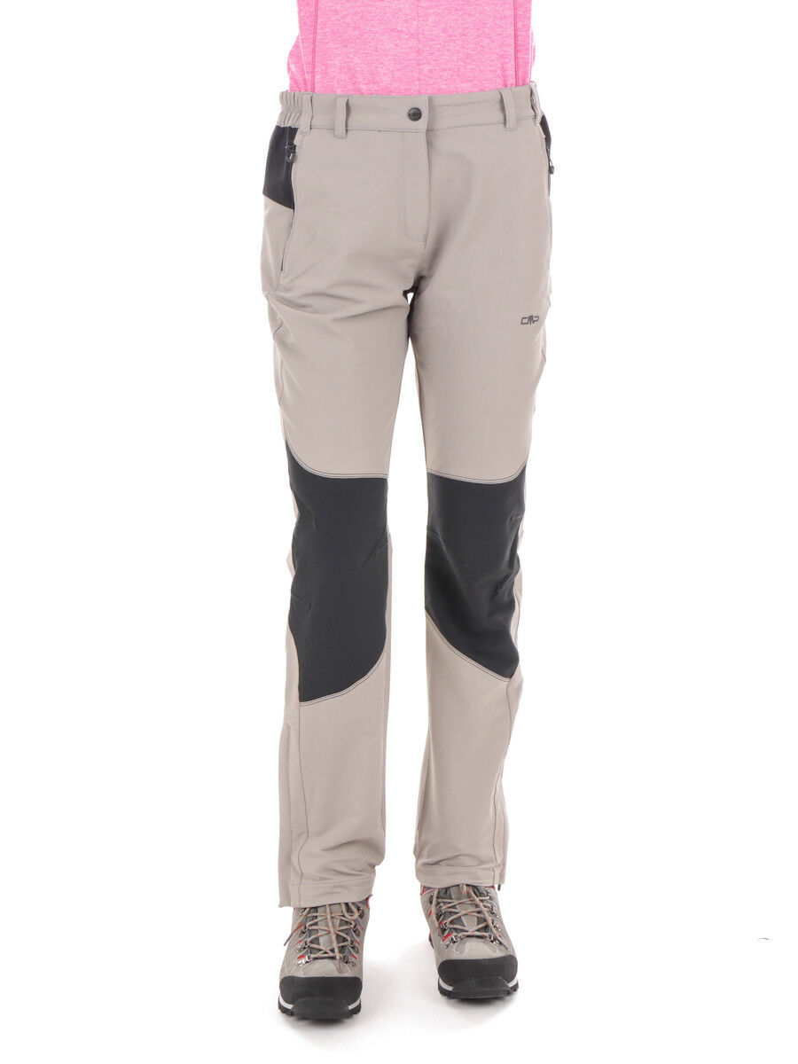 CMP Functional Pants Hiking Pants Woman  Long Pant Light Grey Windproof  best sale