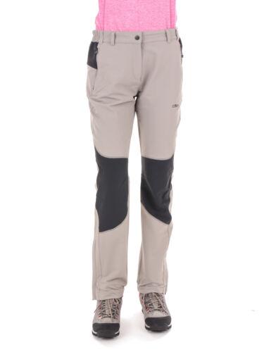 Función CMP pantalones wanderhosen Woman Long Pant gris claro viento denso