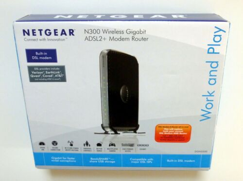 Netgear DGN3500 N300 Wireless-N Gigabit ADSL2 Modem Router
