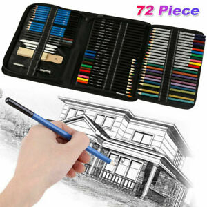 40-72-Drawing-Sketch-Pencils-Set-Graphite-Charcoal-Craft-Sketching-Artist-Kit